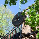 Demontage von Haube, Hauptwelle, Mühlentechnik der Narrenmühle Dülken