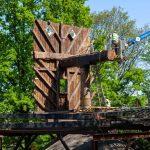 Demontage der Wände der Narrenmühle Dülken