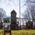 Demontage Flügelkreuz der Narrenmühle Dülken
