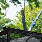 Entfernen von Ständer und Kreuzwerk